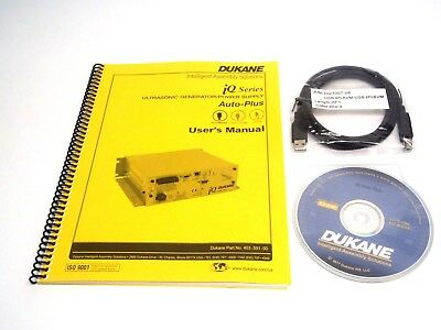 Dukane iQ Series Power Supply Manual/ Software CD 437-00259/ 3021007-06 USB Cord