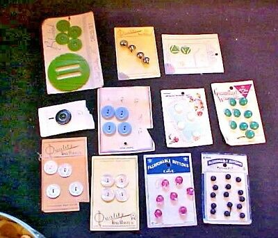 Great Collection Of Vintage & Antique Buttons, Mop, Abalone, Great Cards Of Them