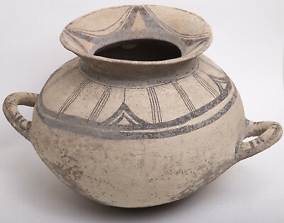 Ancient Daunian Painted Pottery Large Funnel Krater, South Italy, Circa 4th cent