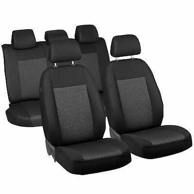 Schwarz-Graue Triangles Classic Seat Covers Fiat Grande Punto Car Seat Cover Set