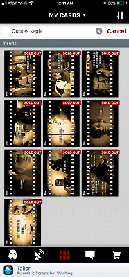 Topps Star Wars Card Trader Digital SWCT - Full Sepia Quotes S1 Set