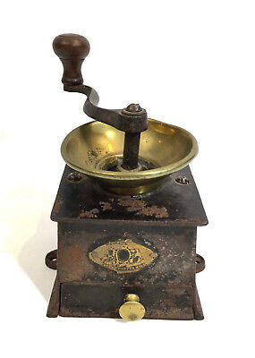 Antique Cast Iron COFFEE MILL A KENRICK & SONS Coffee Grinder