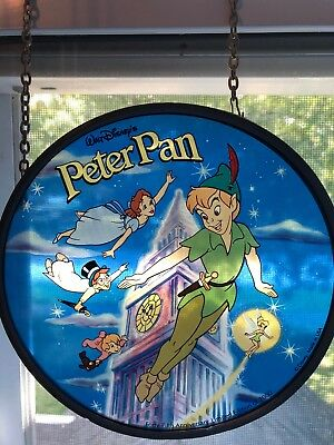 Disney Stained Glass Art Peter Pan 45th Anniversary Limited Ed Glassmasters