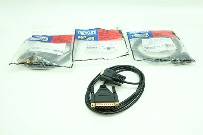 3x New Tripp Lite P456-006 Null Modem Cable Db9/db25 6ft
