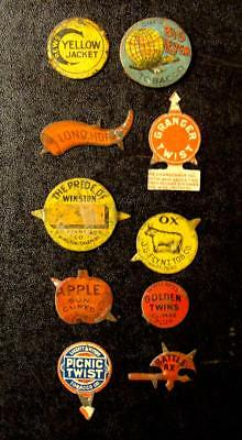 Group Of 10 Very Nice Tobacco Tags-Must See!!