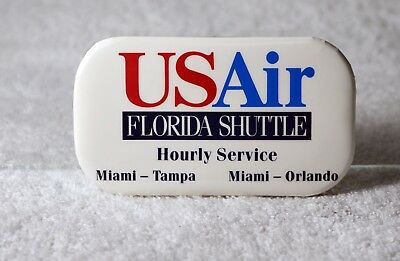 Vintage US Air Airways Airline Florida Shuttle Badge