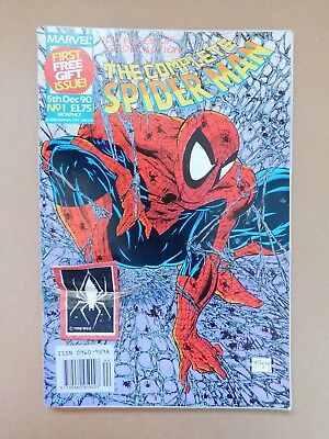 The Complete Spider-Man. #1 Complete With Cloth Patch Gift. Uk 1990 Monthly