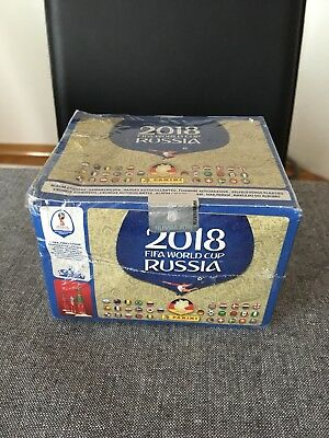 Panini WM 2018 Russia World Cup Sticker  1 x Displaybox = 100 Tüten Neu&OVP