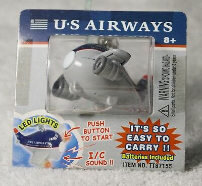 Vintage US Airways Airplane Key Chain - New