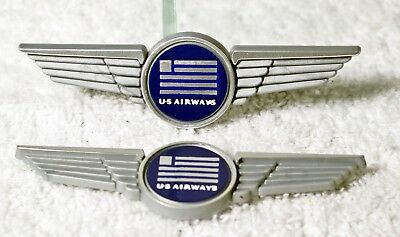 2 - Vintage US Airways Plastic Stick on Wings
