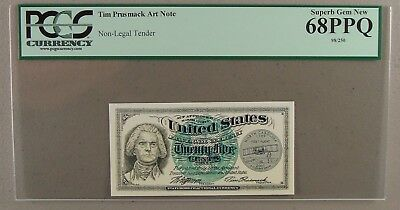 2001 Tim Prusmack North Carolina State Quarter Art Note #98/250 PCGS 68PPQ