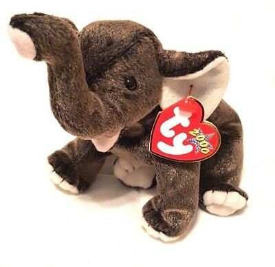 TY BEANIE BABIES Collection - Trumpet the Gray Elephant (2000 ... 7e3fbc71461
