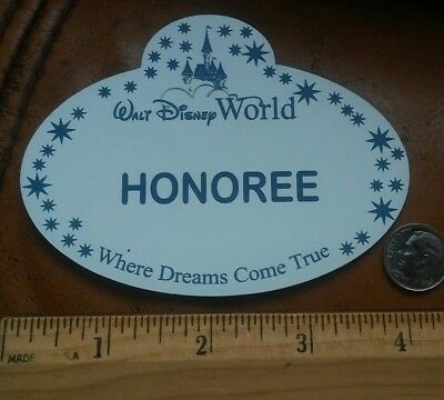 Disney World Cast Member Large Display Name Tag 4 inch Custom Made Exclusive