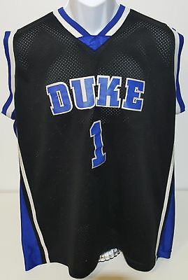 9b9a4ed91583 ... clearance duke blue devils kyrie irving 1 black embroidered basketball  jersey mens l cc3f3 31cf5