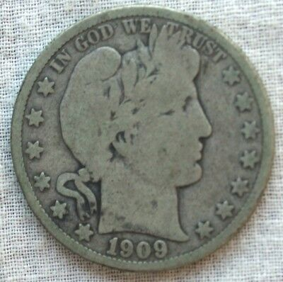 1909-S Barber Silver Half Dollar.....Good Detail  **FREE SHIPPING*