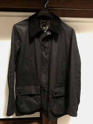 Men's Barbour Navy Ashby Tailored Waxed Cotton Jacket Small