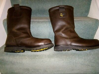 Grafters Mens PVC Waterproof Industrial Safety Rigger Boot SIZES 6-13