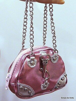 """PINK & SILVER metallic DOLL PURSE BAG fits 18"""" AMERICAN GIRL Doll Clothes"""