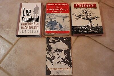 4 Diff. Books on Civil War - One SIGNED