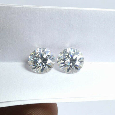 Round Cut H-I white 1.00 CT to 5.00 CT Loose Real Moissanite VVS, For Jewelry