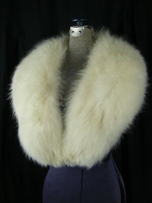 "Vintage Super Fluffy Cream Pelt Fox Fur Winter Luxury Collar- 46"" Long"