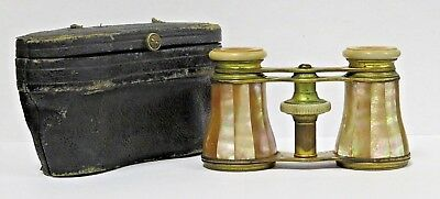 Vintage 1800's Lemaire Mother of Pearl Opera Glasses w/Case
