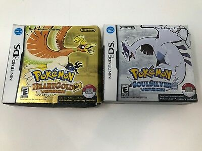Pokemon HeartGold SoulSilver Version Nintendo DS Box Only Lot NO GAME