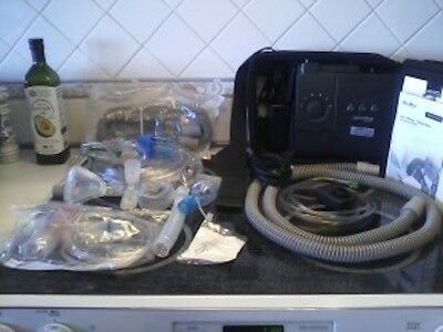 Philips Respironics System One Machine BiPAP Plus w/ Bag, hose and masks, more