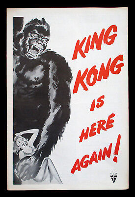 KING KONG original pressbook 1956 re-release Complete and Uncut VF-NM