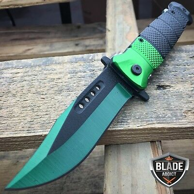 """8.5"""" Tactical CLIP POINT Spring Assisted Open RESCUE Folding Pocket Knife G"""