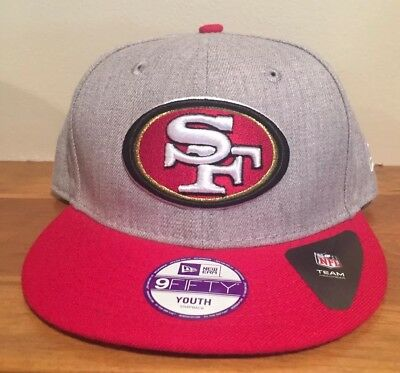 new product edd9c 3f547 San Francisco 49ers Youth Sideline Official New Era 9FIFTY Hat Cap Snapback