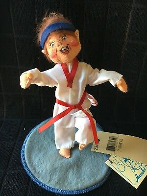 Annalee Kicking KARATE BOY 7'' 1997 Collection with tags- Wears Ghee and belt