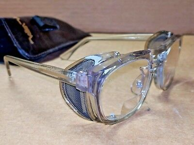 """Vintage TITMUS Z87 Clear Thick Rim Safety GLASSES Bifocal Side Protection 5 3/4"""""""