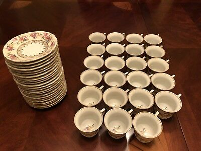 Vintage Gold Castle DEMITASSE Hostess Set Of 23 Cups Saucers Japan Circa 1940