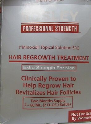 Bosley Hair Regrowth Treatment Minoxidil Solution 5% for Men - Two Months Supply