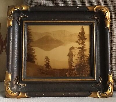 """Edward S Curtis Centennial Project Limited Edition """"Crater Lake"""" Goldtone 8x10"""
