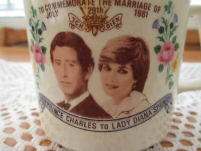 Collectable Commemorative Charles & Diana Marriage Mug. Made in Australia.LOOK!