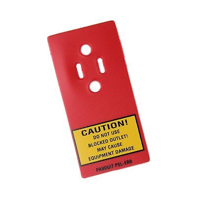Panduit PSL-ERB Receptacle Blockout Device for Standard 120V Receptacles, Red
