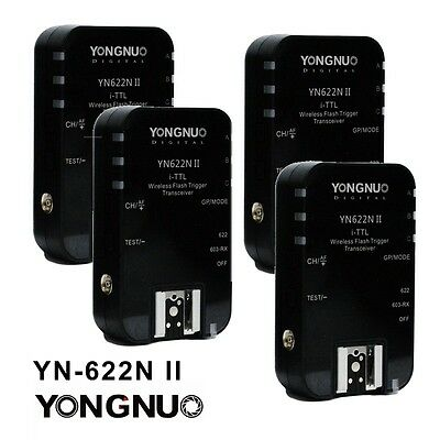 Yongnuo 4PCS YN-622N II TTL Wireless Flash Trigger for Nikon D800 D5200 D3200 AU