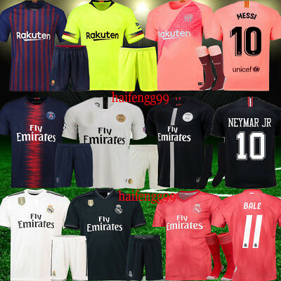 NEW Season Football Club Team Suit Red/Pink Third Kit Youth Summer Outfits 3-14