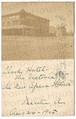 "Vintage RPPC - View of ""Victoria Hotel,"" Deming, New Mexico Terr., 1905, rare!"