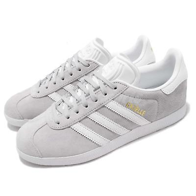 online store 1165b 666ba adidas Originals Gazelle W Grey White Women Casual Classic Shoes Sneakers  B41659