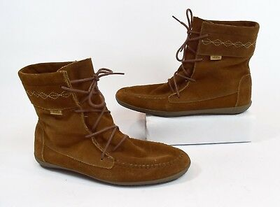 Vans Womens Brown Suede Leather Native American Style Ankle Boots Size 10