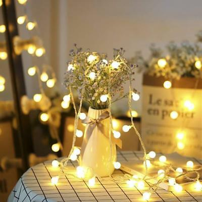 Fairy LED String Lights Christmas Round Ball Blubs Wedding Party Lamp 2M 3M 5M