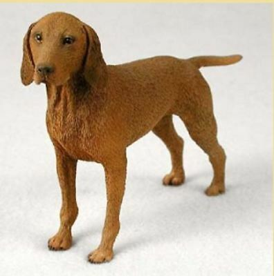 VIZSLA DOG Figurine Statue Hand Painted Resin Gift Pet Lovers Brindle