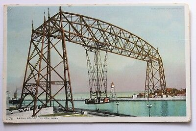 Old postcard AERIAL BRIDGE, DULUTH, MINNESOTA, 1913