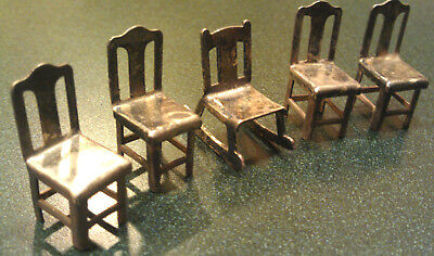 Sterling Silver Miniature Chair Set