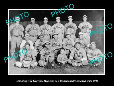 Large Old Historic Photo Of Donalsonville Georgia, The Town Baseball Team 1945