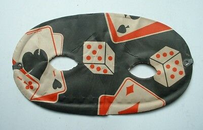 Vintage Halloween Party Mask Dice Cards Japan 1950's