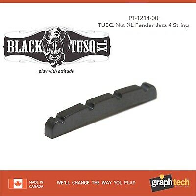 NEW Graph Tech PT-1214-00 BLACK TUSQ XL Slotted Nut for Fender J Bass 4-String